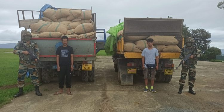 Mizoram: Illegal consignment of areca nuts worth over Rs 16 lakh seized by Assam Rifles 1