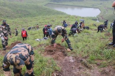 Meghalaya: Assam Rifles launches mega plantation drive at Cherrapunji to restore lost greenery 1