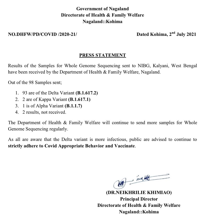 Delta variant of COVID-19 detected in Nagaland 5