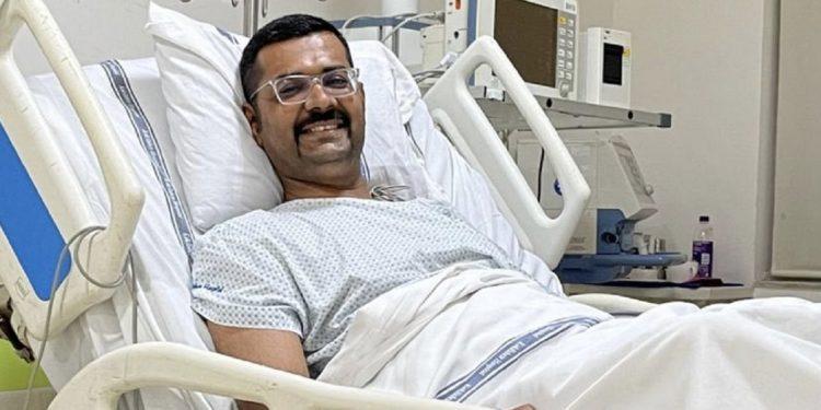 Cachar SP Vaibhav Nimbalkar, injured in Assam-Mizoram border clash, recovering fast 1