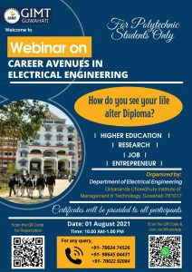 GIMT Guwahati to conduct webinar on career prospects in electrical engineering on August 1 4