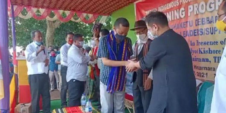 Tripura: Simna MLA Brishaketu Debbarma officially joins TIPRA 1
