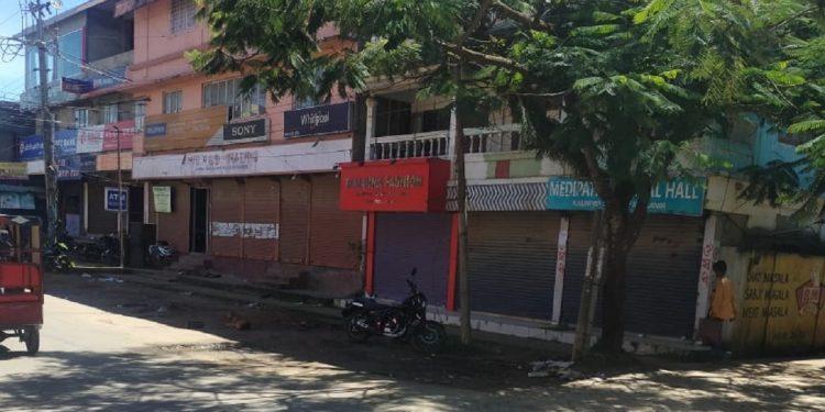 Shutdown in Hailakandi town.
