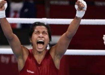 Lovlina Borgohain after her win