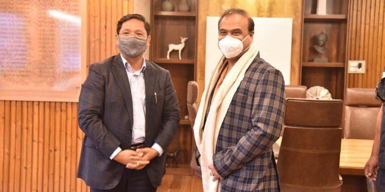 Meghalaya CMand Assam CM Himanta