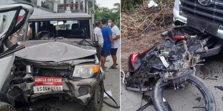 Road mishap in Dibrugarh