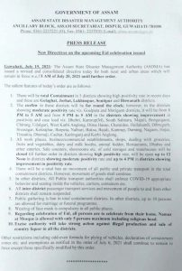 5 districts in Assam to remain under Covid19 lockdown for another week; new SOP issued 4