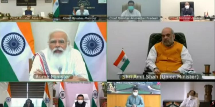 PM Narendra Modi raises concern over COVID-19 situation in Northeast, interacts with NE CMs 1