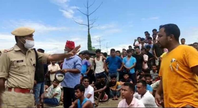 protest at Baghjan
