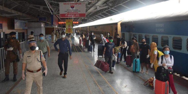 train at Dimapur Railway Station