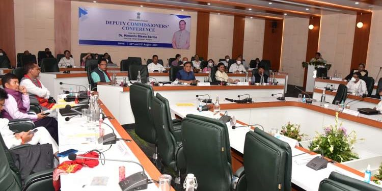 Assam CM's conference with DCs