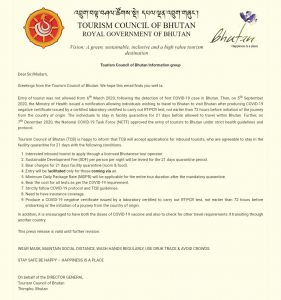 Bhutan decides to allow tourists to visit country with Covid19 negative certificate 4