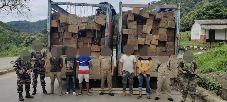 Nagaland: 4000 cubic feet Burmese teak seized in Dimapur 1