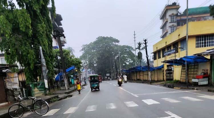 Covid19 lockdown bandh Lakhimpur road