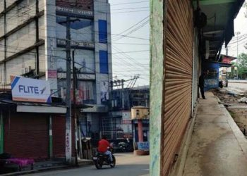 A view of the Covid19 lockdown in North Lakhimpur. Image credit - Northeast Now