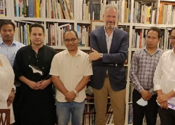 Tripura: TIPRA chairman Pradyot Debbarma, TTAADC members meetBrazilian Ambassador Andre Aranha Correa 1