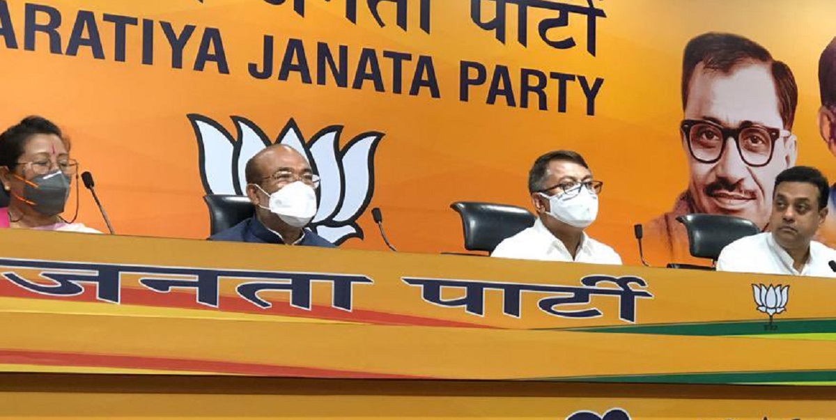 Former Manipur Congress chief Govindas Konthoujam joins BJP 5