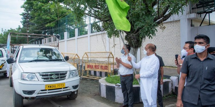 Manipur CM Biren Singh flags off Europe bound consignment of Black Rice 1