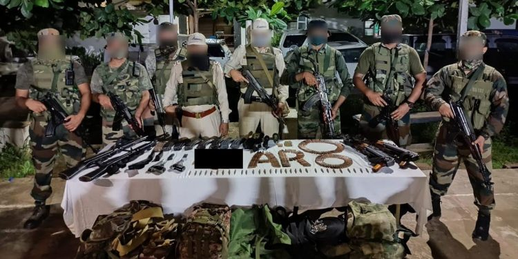 Manipur: Huge cache of arms and ammunition recovered from Moreh 1
