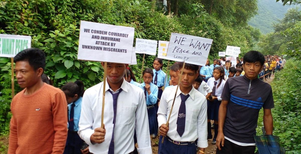 Nagaland: Students, locals of four villages protest against NSCN-KYA's attack on Assam Rifles troopers and villagers 5