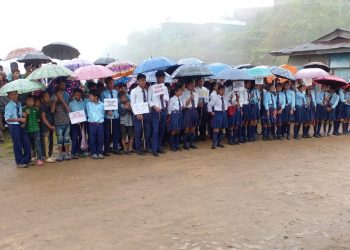 Nagaland: Students, locals of four villages protest against NSCN-KYA's attack on Assam Rifles troopers and villagers 2