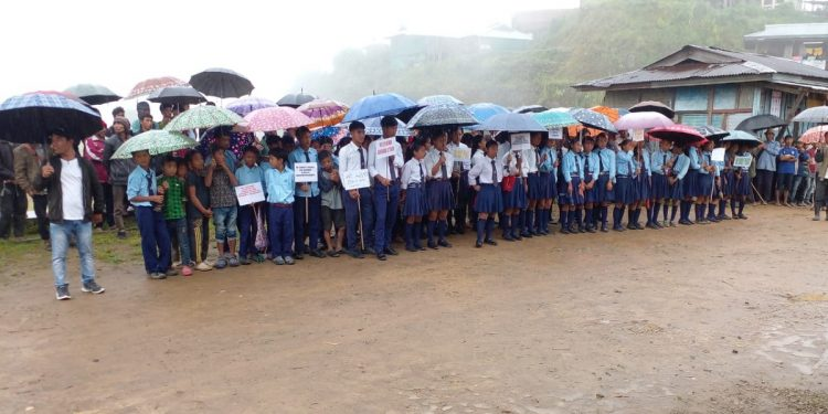 Nagaland: Students, locals of four villages protest against NSCN-KYA's attack on Assam Rifles troopers and villagers 1