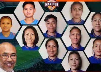 Manipur women footballers
