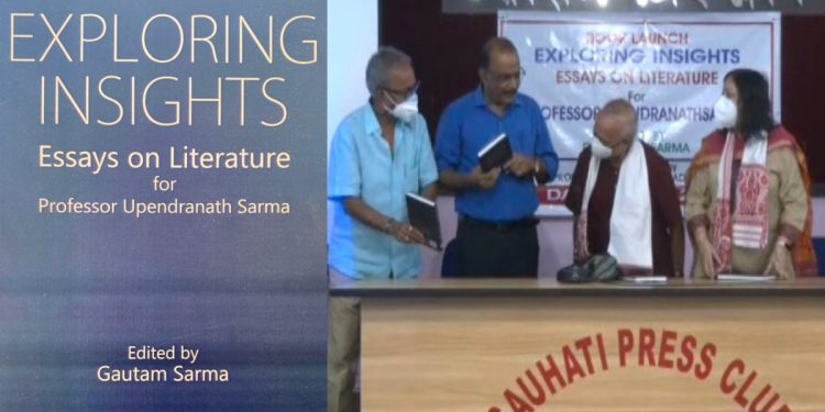 'Exploring Insights' - a festschrift in honour of erudite scholar Prof Upendranath Sarma released 1