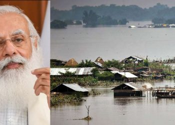 PM Narendra Modi takes stock of Assam floods 3