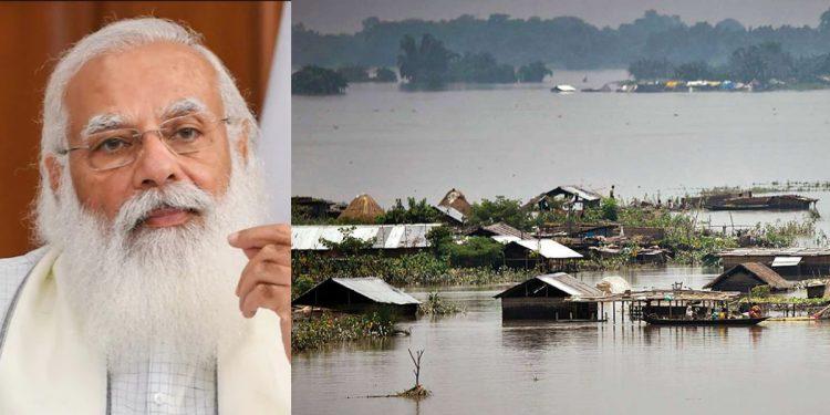 PM Narendra Modi takes stock of Assam floods 1
