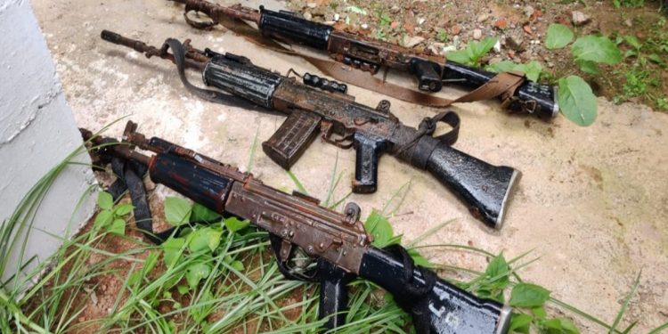 Meghalaya police's missing INSAS rifles fished out from Umkhrah River in Shillong 1