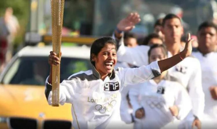 Pinky Karmakar London Olympic torchbearer