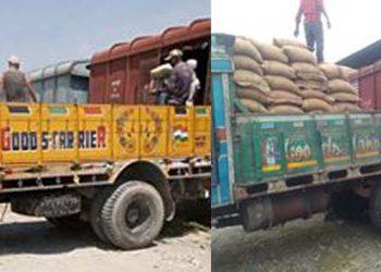 Rail loaded trucks