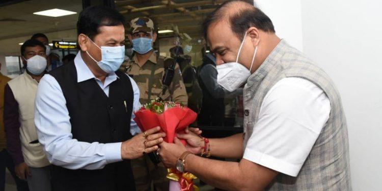 Sarbananda Sonowal arrives in Guwahati, to lead Jan Ashirwad Yatra in Assam 1