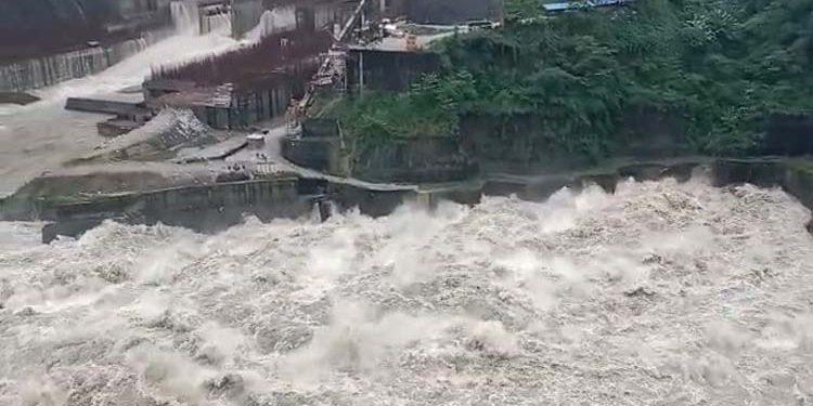 Subansiri river waters