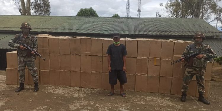 Mizoram: Foreign cigarettes worth over Rs 1.31 crores recovered by Assam Rifles troopers 1