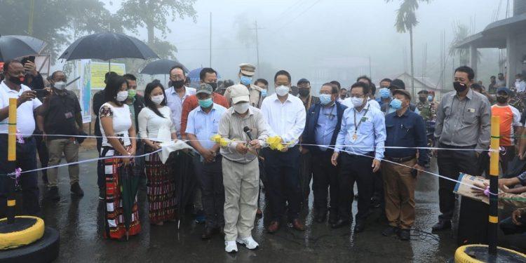 Mizoram CM Zoramthanga inaugurates NEC-funded KDZKT road in Mamit district 1
