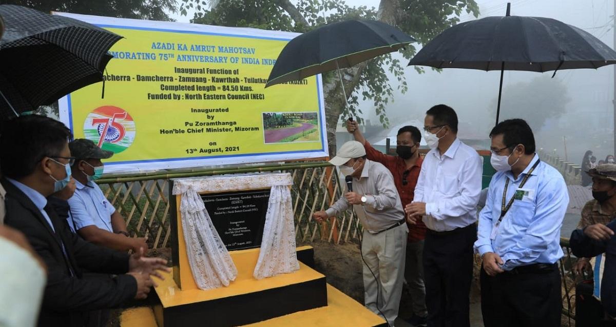 Mizoram CM Zoramthanga inaugurates NEC-funded KDZKT road in Mamit district 5