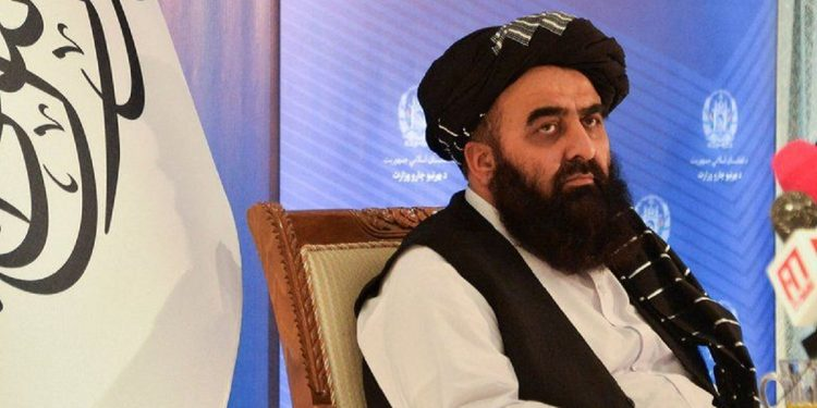 Amir Khan Muttaqi, the foreign minister of the Taliban regime in Afghanistan.