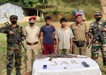 Myanmar nationals arrested with weapons in Mizoram