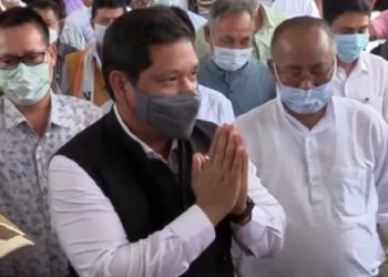 Meghalaya CM & NPP president Conrad Sangma arrives in Manipur, to meet party leaders 1