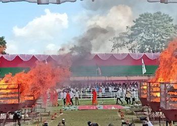 Assam government burns nearly 2500 rhino horns 1