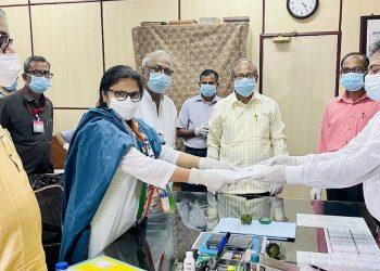 TMC's Sushmita Dev files nomination for by-poll to West Bengal Rajya Sabha seat 7
