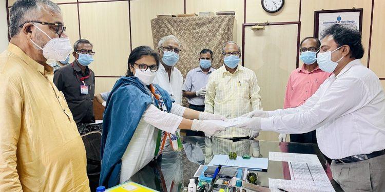 TMC's Sushmita Dev files nomination for by-poll to West Bengal Rajya Sabha seat 1