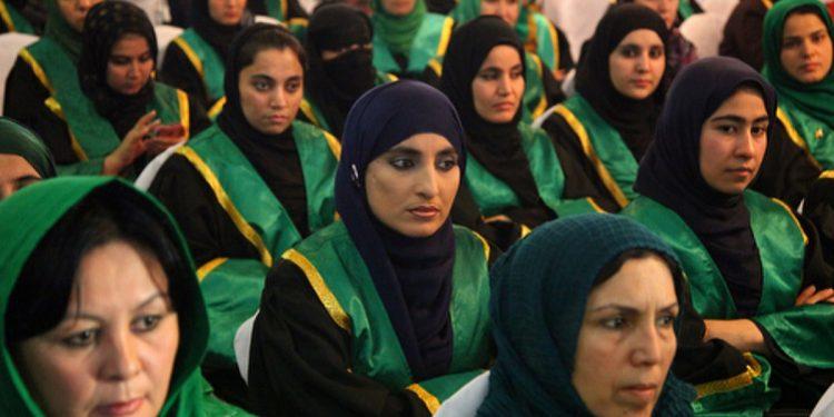 File image of Afghan female judges.