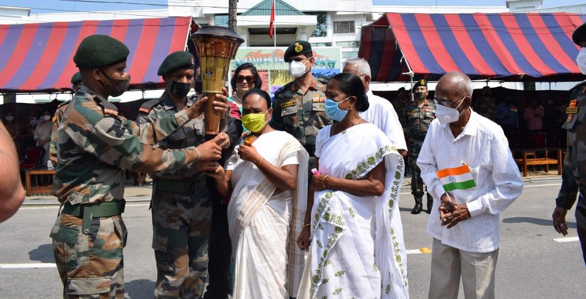 Assam: Rangia military station bids grand send-off to Swarnim Vijay Mashaal 5