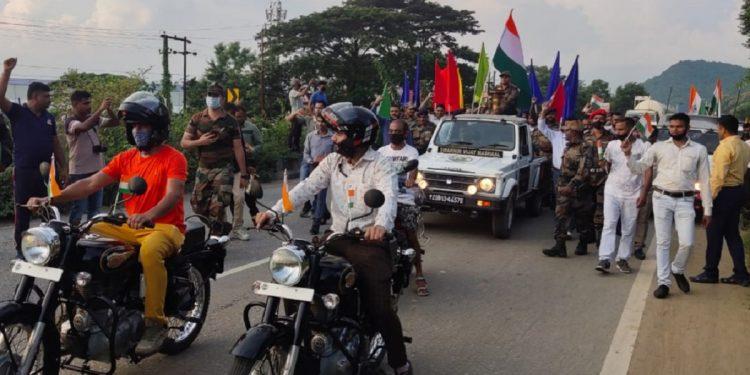 Assam: Rangia military station bids grand send-off to Swarnim Vijay Mashaal 1