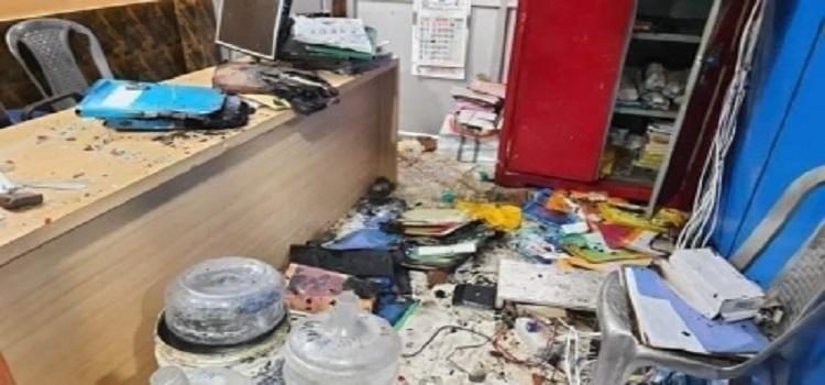Tripura: BJP workers vandalize newspaper office in Agartala, set vehicles on fire 1