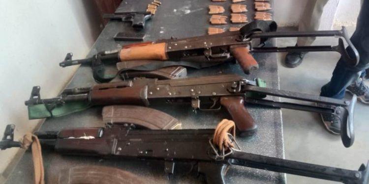 Huge cache of arms seized along Assam-Nagaland border, 5 held 1