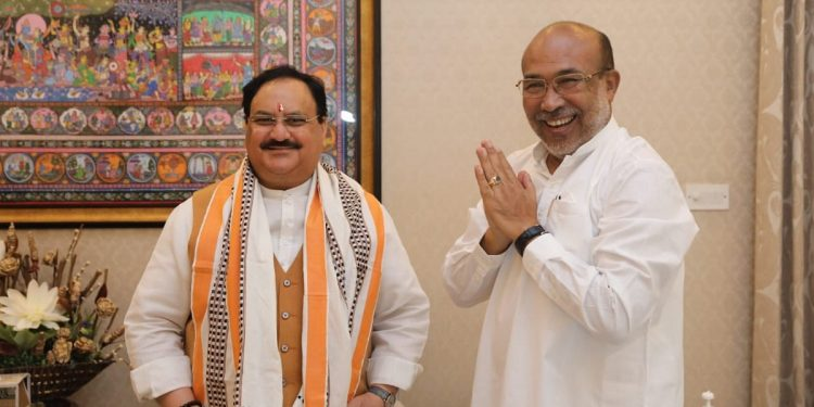 As 'rift' within Manipur BJP widens ahead of Assembly polls, Nadda to visit state 1
